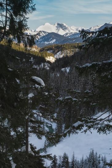 Blick über das Gaistal und den Salzbach